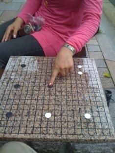 寺町夷川 「本因坊発祥の地」石の碁盤